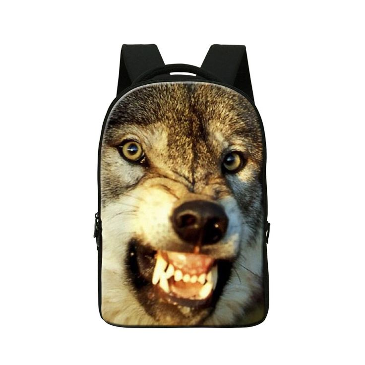 Wolf 3D Pattern Laptop Backpacks for Men,College Cool Bookbags,Animal Computer Back Pack for Boys,youth Stylish backpacking bags