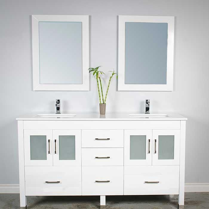 White 63 Double Sink Bathroom Vanity Modernbathrooms Ca