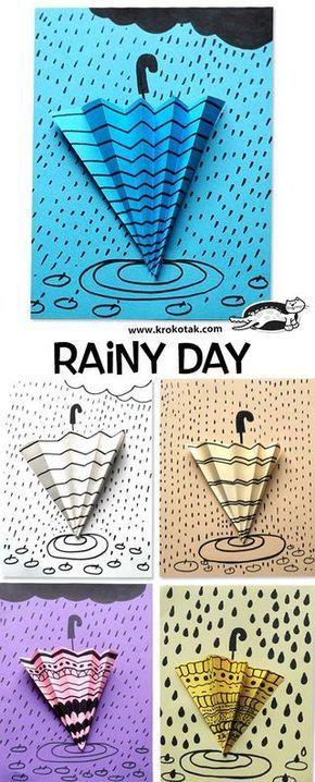 Rainy day - pattern art lesson