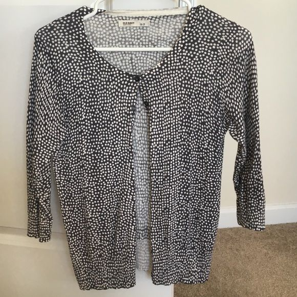 Old Navy blue and white cardigan sz small Blue-ish gray sweater with white dots. Old Navy. Size small. Old Navy Sweaters Cardigans