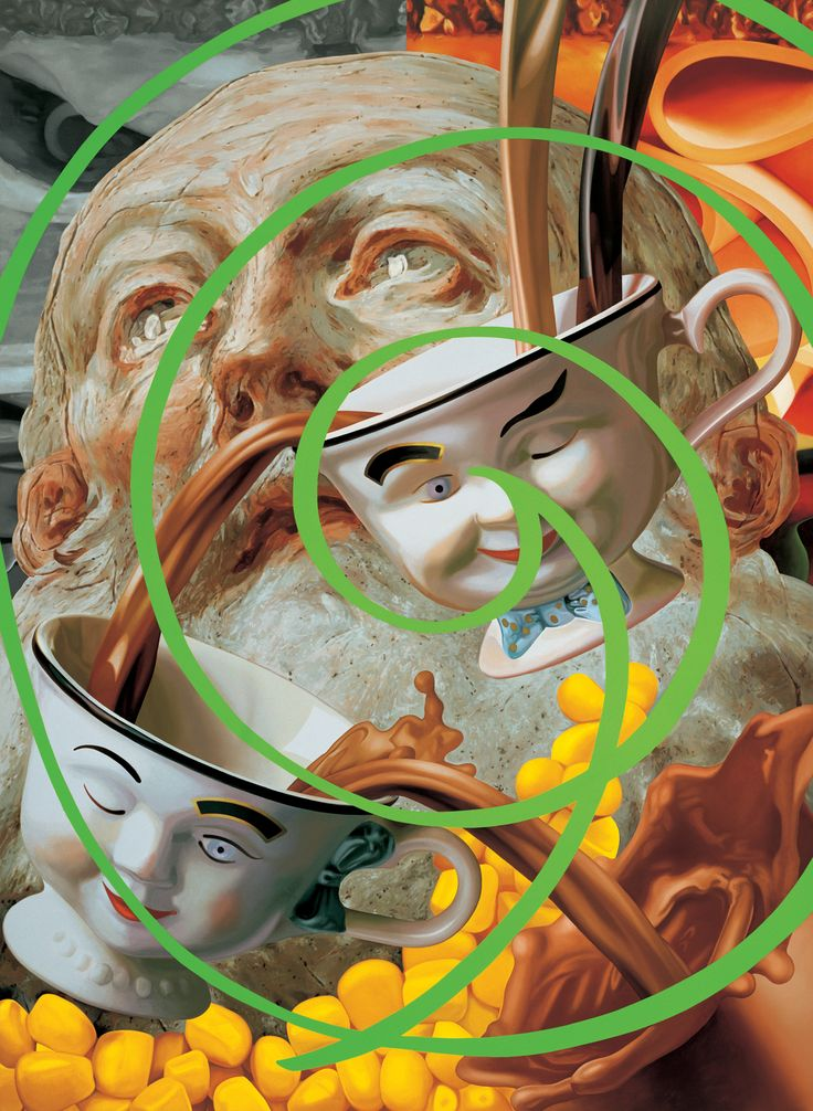 Jeff Koons (b 1955, USA) - Saint Benedict, 2000, Oil on canvas, Collection Astrup Fearnley Museet, Oslo
