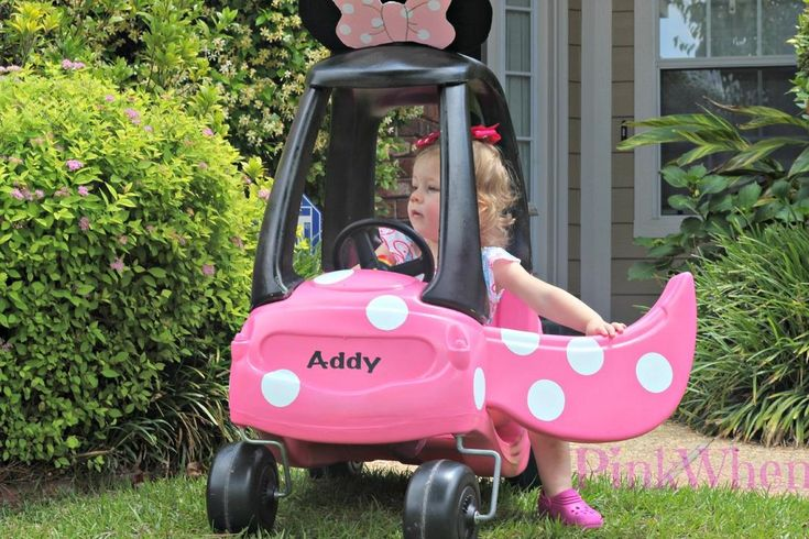 Cozy Coupe to Minnie Mouse Coupe tutorial.