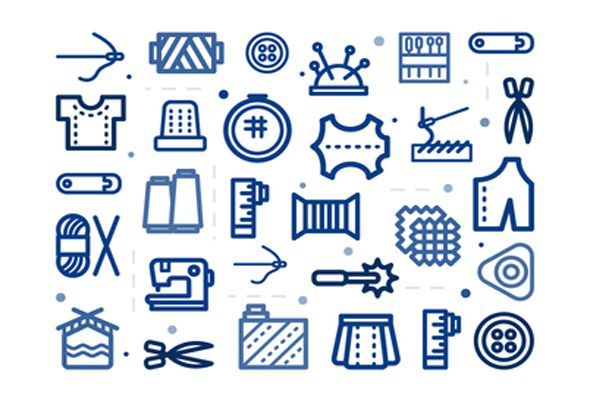 This is the FREE Sewing Icon Pack by Sooodesign which is a great free icon pack that contains all types of sewing related icons. It includes scissors, needles and threads.