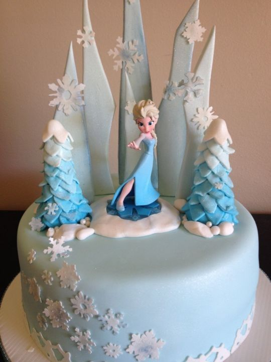 Creative frozen Halloween Elsa cake for 2014 - pastel blue, snowflakes #Halloween #cake #Elsa