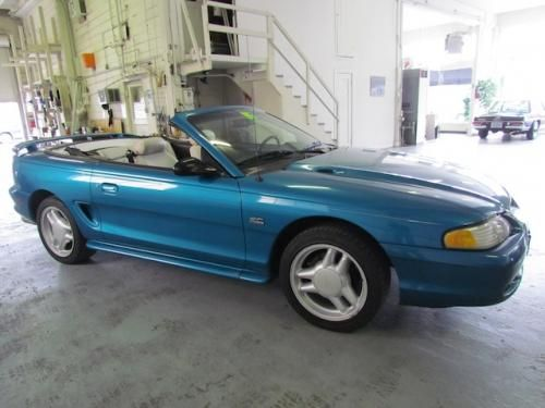 1995 Mustang GT Convertible Bright Blue  Dirtbikes and Cars