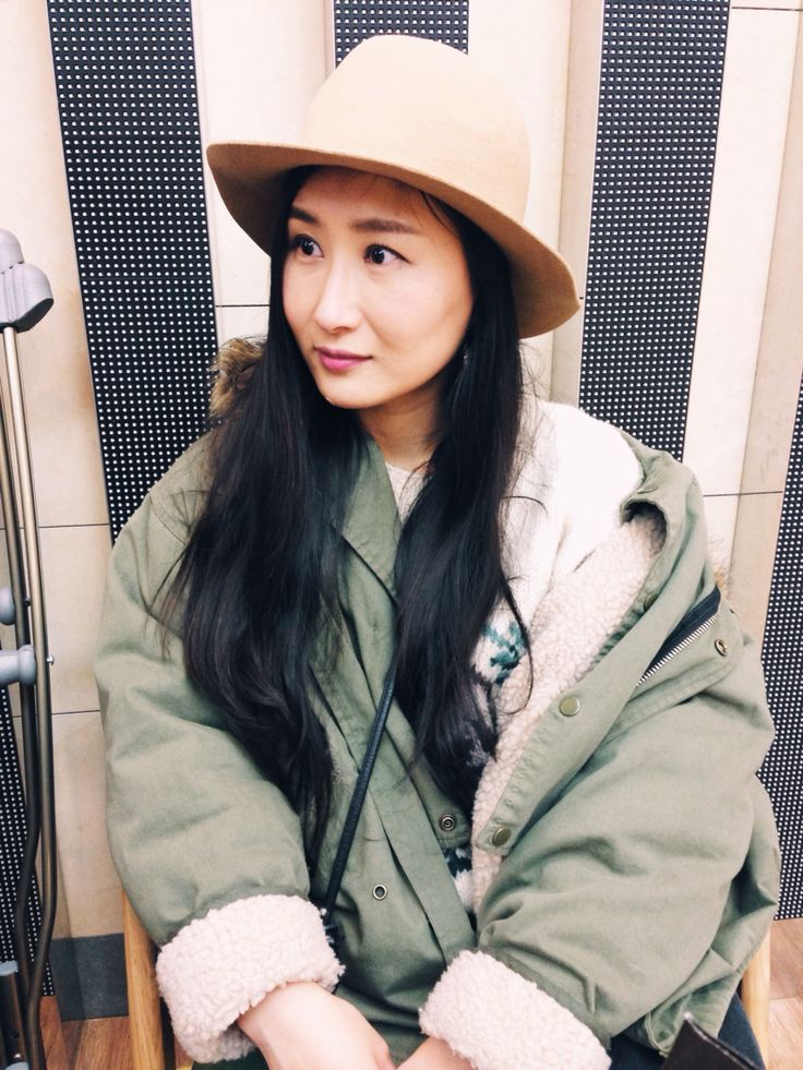 Style : parka : floppy hat : Korea fashion blogger Sean
