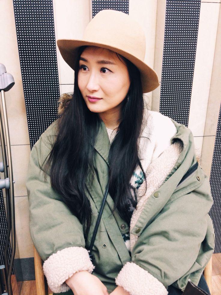 Style : parka : floppy hat : Korea fashion blogger Sean