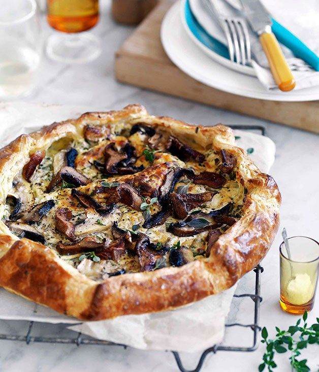 Mushroom and ricotta galette recipe | Gourmet Traveller recipe :: Gourmet Traveller
