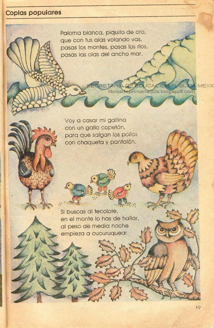 Unos versos llamados coplas, basados principalmente en animales, en este caso, aves.    Y vaya que son coplas populares, pues realmente no s...