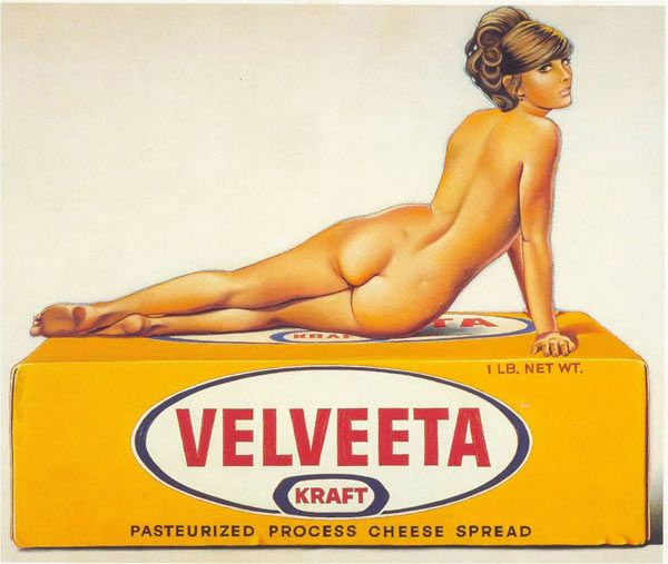 Mel RamosMel Ramos, Pop Art, Ramos Pinup, Velveeta Pinup, Vintage Advertis, Ramos Velveeta, Cheese, Pinup Art, Pin Up