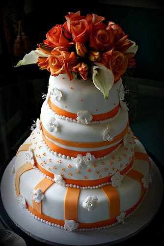 wedding cake orange southern blue celebrations orange wedding cake ideas 23347