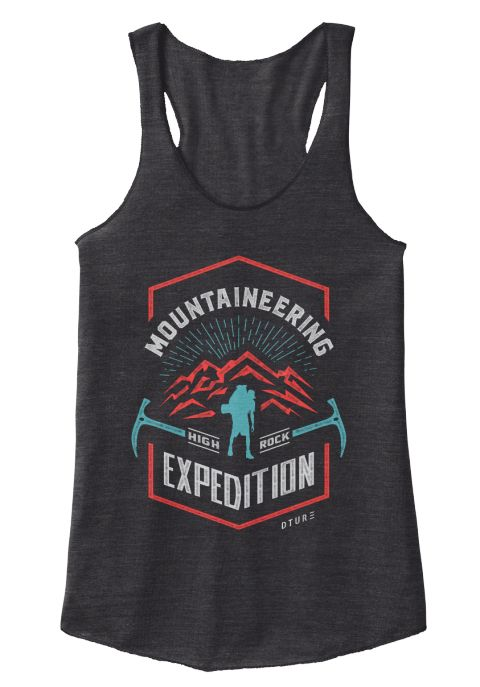 Mountaineering High Rock Expedition Dture Eco Black T-Shirt Front