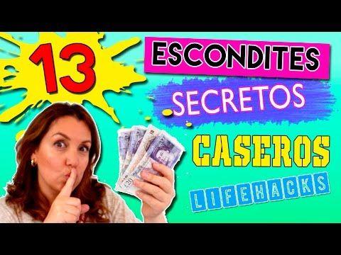 13 ESCONDITES secretos caseros * LIFE HACKS para esconder dinero, llaves, joyas...... - YouTube