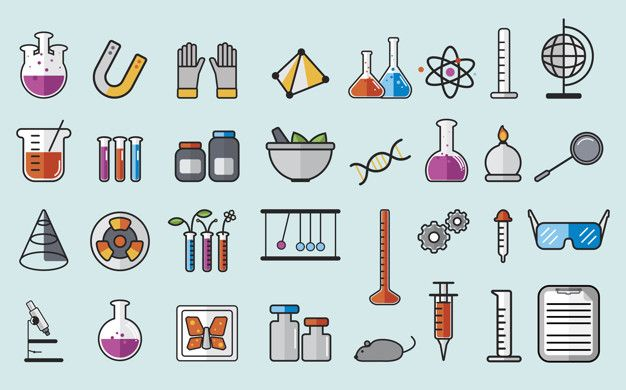 Download Illustration Of Chemistry Laboratory Instruments Set For