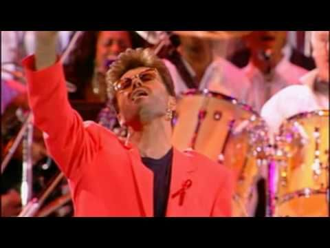 ▶ Queen & George Michael - Somebody to Love - (Live Wembley 1992) - HD - YouTube  No matter how many times, over how many years, every time I hear this song, it always gives me goosebumps.  Amazing.