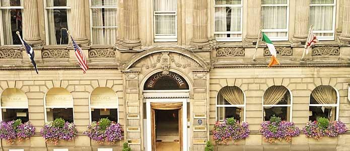 The George Hotel in Edinburgh, Scotland.  The best High Tea.