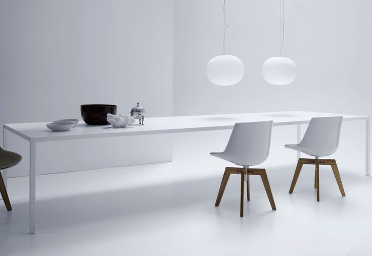Tense desk by MDF Italia with 450mm cable ports