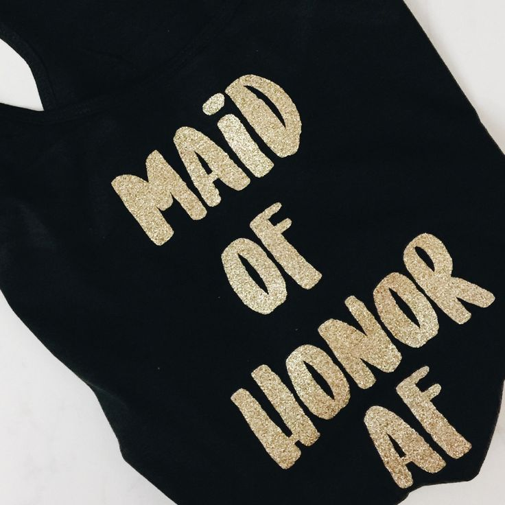 Maid of honor AF tank | maid of honor gift | MOH AF | maid of honor as fuck tank | maid of honor proposal LittleBrownnSuitcase.com