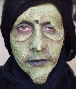 Make up mostro verde