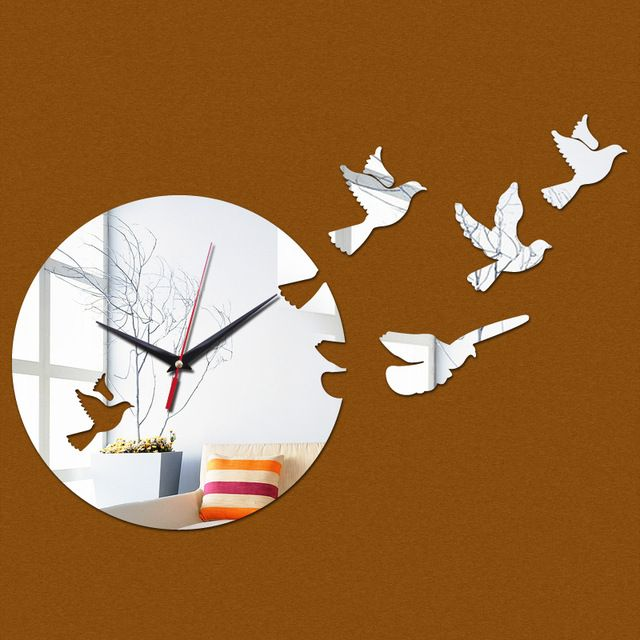 Buy now 2017 new watch home decoration wall clock diy mirror clocks 3d balcony/courtyard quartz circular needle acrylic just only $6.89 with free shipping worldwide  #clocks Plese click on picture to see our special price for you