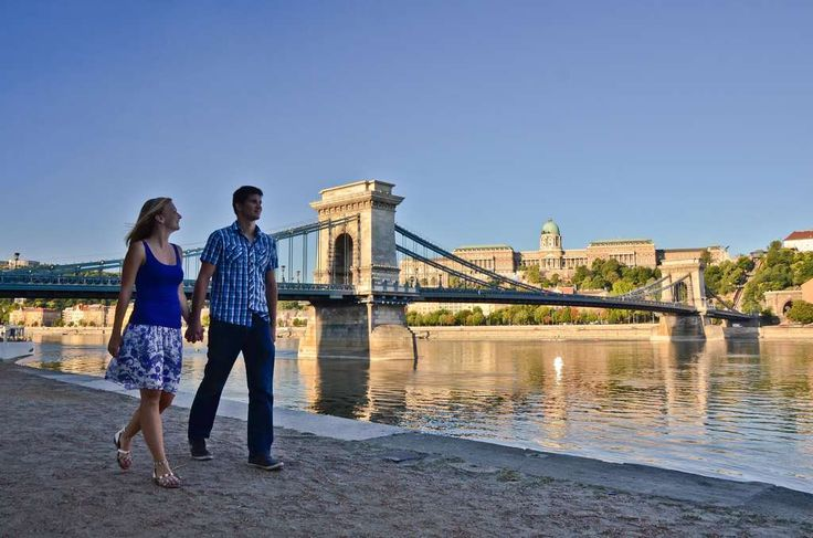 Romantic stroll along the Danube waterfront in Budapest, Budapest and the Central Danube Region