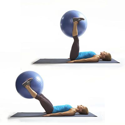 Move of the Day: Leg Drop - This stability ball move works your abs better than crunches, and is part of our Triple Your Calorie Burn workout. The Leg Drop works your rectus abdominis (the paired muscle that gives you a stellar six pack!) as well as the lower abs. It's not too late to show off your bikini body this summer, so try this proven move to get ready for the weekend.