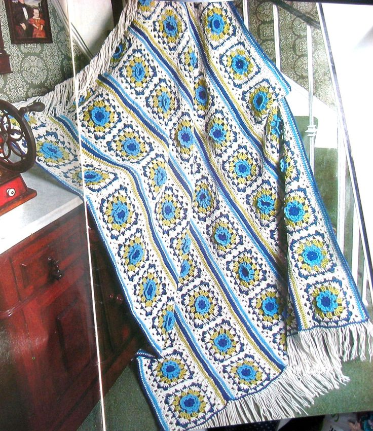 17 best Vintage Crochet Patterns 1970\'s Retro Style Afghans images ...
