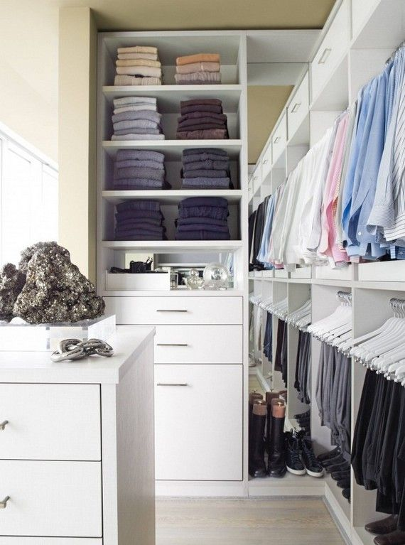 best storage for small apartment closet with full scale shelving unit