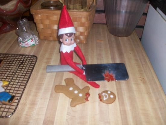 Montgomery, the South Pole Elf on the Shelf. Hence, the murder.