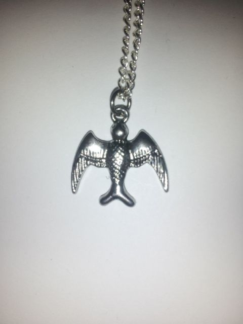 A beautiful Soaring Bird on a 20 inch silver chain!     Show your Ravenclaw Pride!  (Shh It could be an eagle)    Homemade!