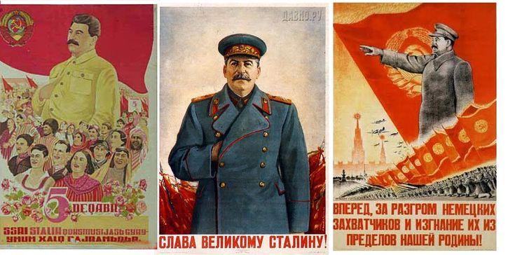 Some manifestos celebrating the figure of Stalin