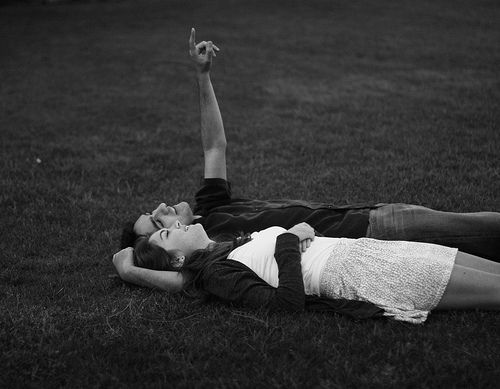 If we could just lay here, would you lie with me and just forget the world?