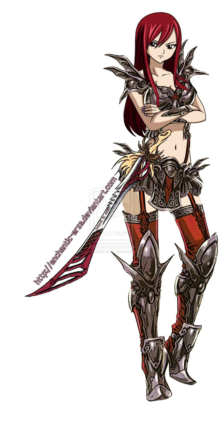 fairy tail erza scarlet armor | Erza Scarlet Demonite Armor by ~enchantic-erza on deviantART