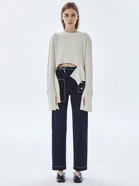 LOW CLASSIC 16fw Pocket Denim Pants #lowclassic #sweaters #asymmetrical