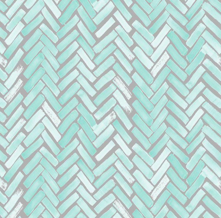 Green Blue Gray Chevron Fabric Gray Mint par Spoonflower sur Etsy