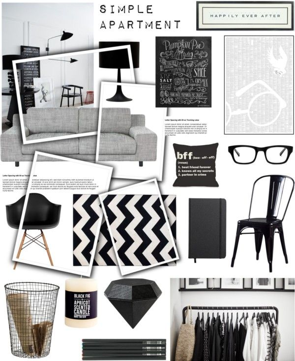 Simple apartment by rheeee on polyvore interior design for Best home decor boards on pinterest