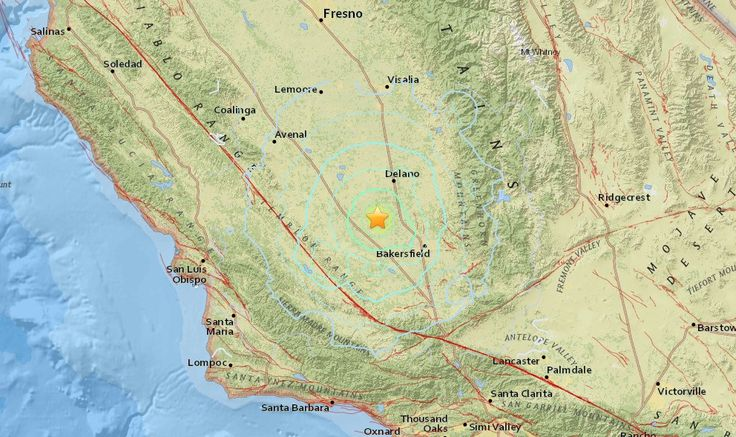 California Earthquake 2016 Right Now Strikes Bakersfield, Wasco