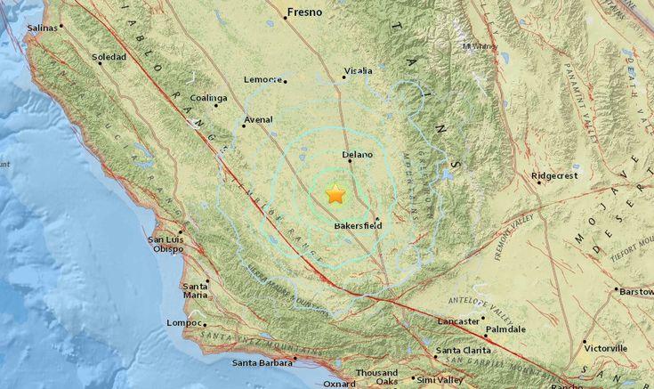 California Earthquake 2016 Right Now Strikes Bakersfield, Wasco