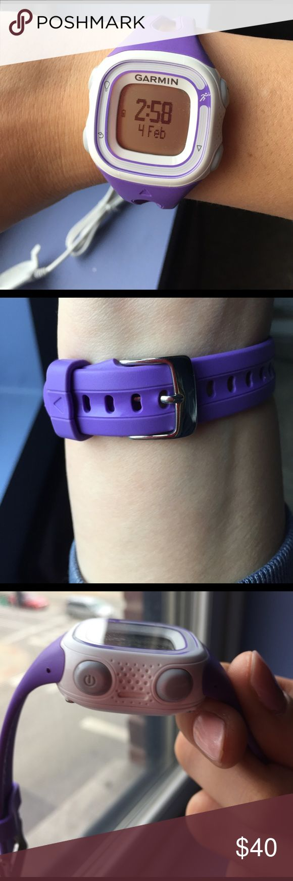 Garmin Forerunner 10 Like new!! 🏃🏼♀️Easy way to accurate track your running miles outside. Good for beginning running. I only wore this for a few runs and I loved it! garmin Accessories Watches
