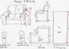 Resultado de imagen para moldes para capas de sofa