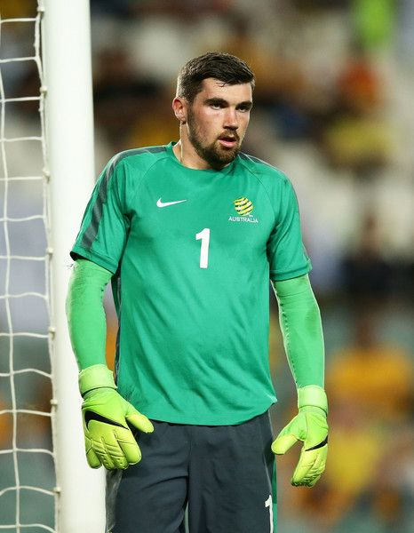 Socceroos goalkeeper Mathew Ryan warms up before during the 2018 FIFA World Cup Qualifier match between the Australian Socceroos and United Arab Emirates at Allianz Stadium on March 28, 2017 in Sydney, Australia.