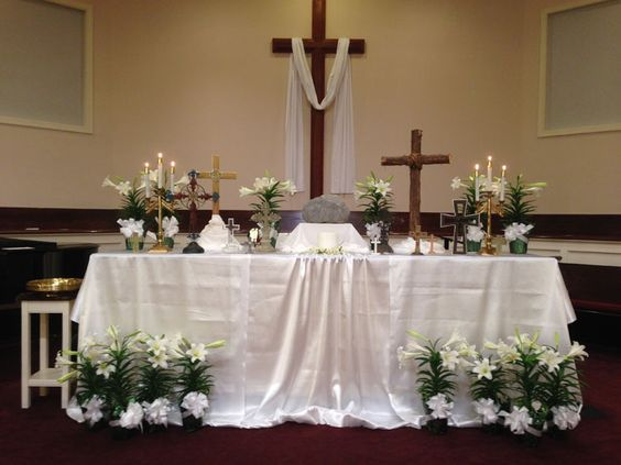 Easter Decorating Ideas For Church 407 best church decor images on pinterest | church flowers, floral