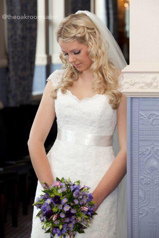 Wedding Hair by Natalie Allen & Stevie-Leah Loscombe. Makeup by Tania Joslin @ The Oak Room