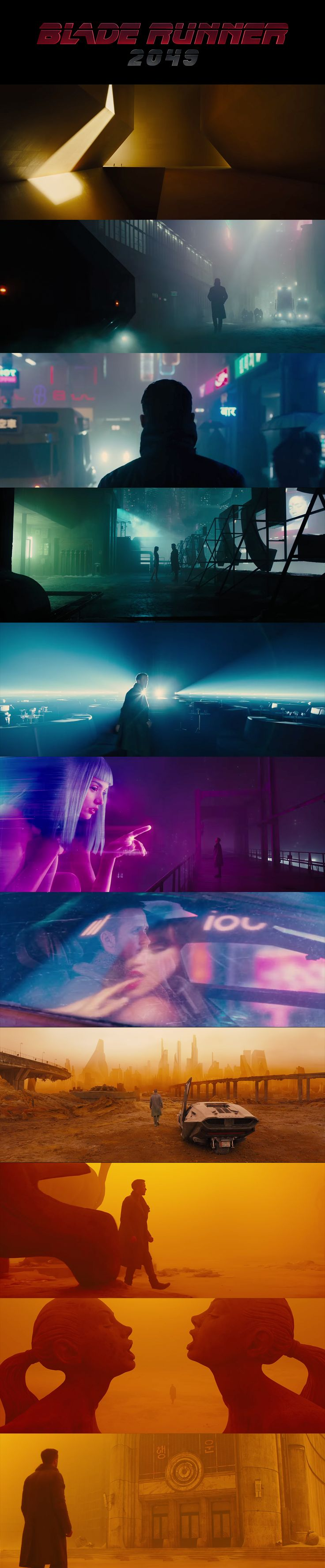 Blade Runner 2049 amazing palette color