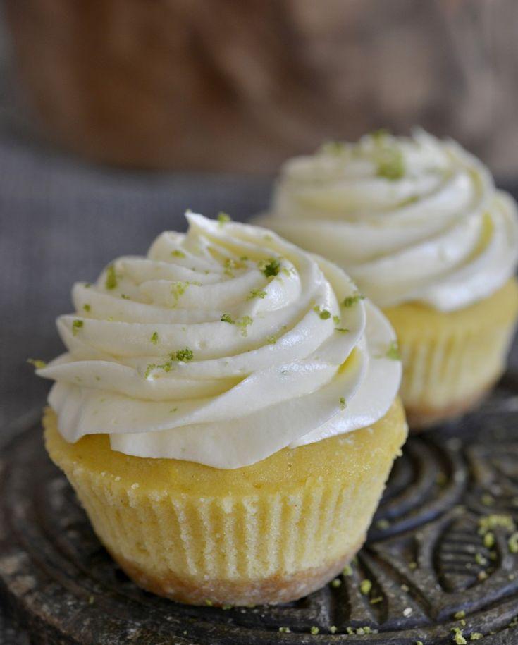 Mini key-lime cupcakes