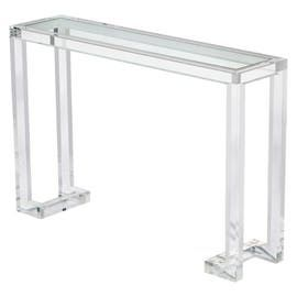 Ava Console Table  Art Deco, Contemporary, MidCentury  Modern, Transitional, Acrylic, Glass, Console Table by Interlude Home