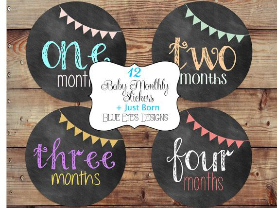 Baby Monthly Sticker,Month by Month Stickers,Baby Month Stickers,Baby Age Stickers,Growth Stickers,Baby Gift CB0304 on Etsy, $12.00