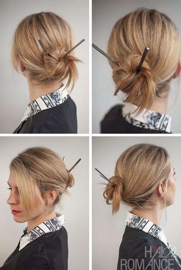 Hair Romance - 30 Buns in 30 Days - Day 17 - Chopstick Bun Hairstyle