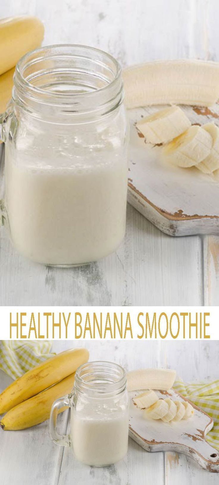 Super Easy Banana Smoothie. This is the Best Banana Smoothie. It's simple. It's easy. And its just three ingredients. So get out your blender and get blending!