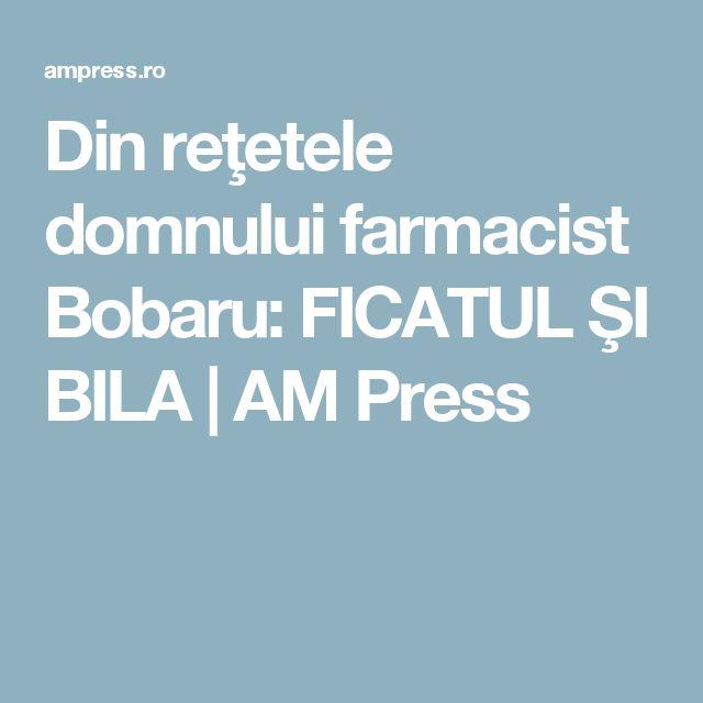 Din reţetele domnului farmacist Bobaru: FICATUL ŞI BILA | AM Press